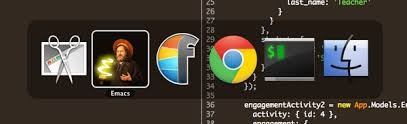 Emacs icon action shot